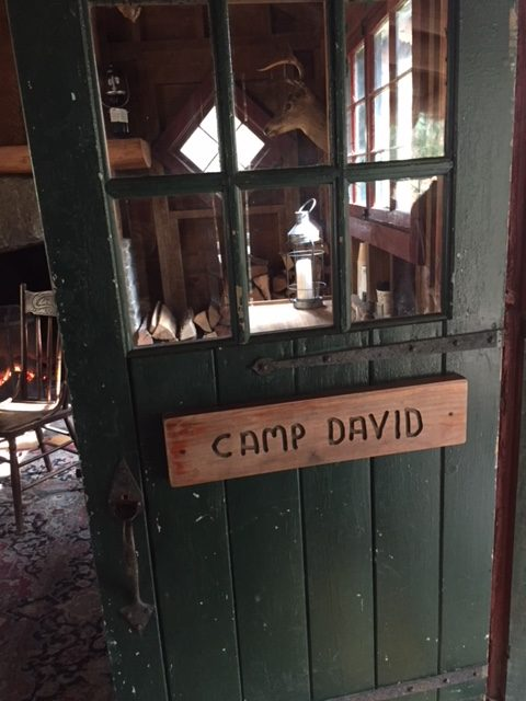 Camp David Cabin in the woods